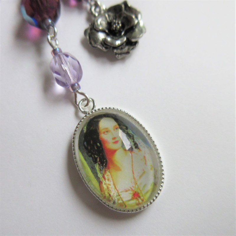 La Traviata Opera Necklace (Portrait and flower detail)