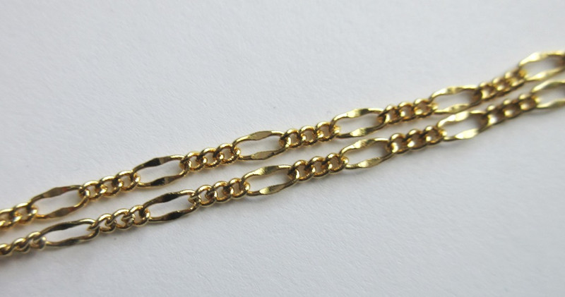 Gold finished Figaro chain