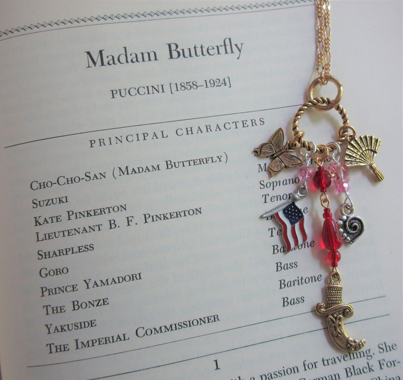 Madama Butterfly Opera Necklace