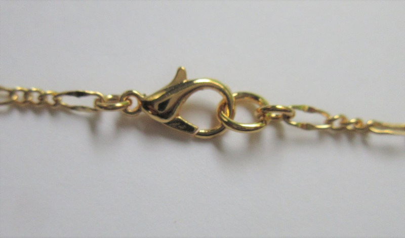 Gold finished pewter clasp