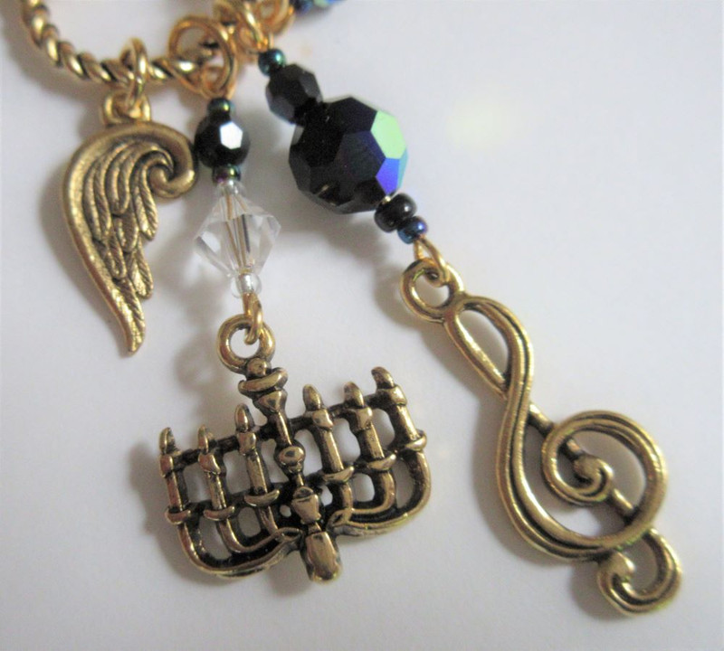 Phantom of the Opera Necklace detail
