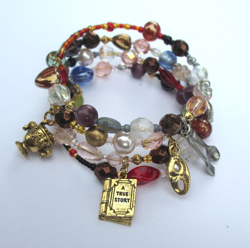 The Don Giovanni Opera Bracelet tells the opera's story with beads and charms.