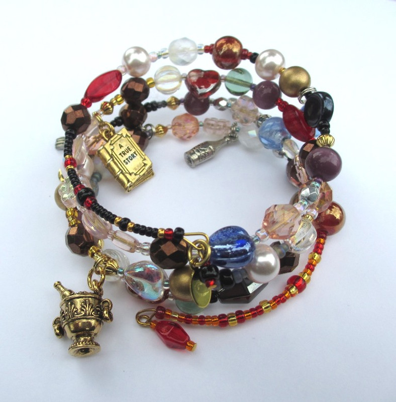 The story of Mozart's famous rogue, Don Giovanni told via beads and charms.