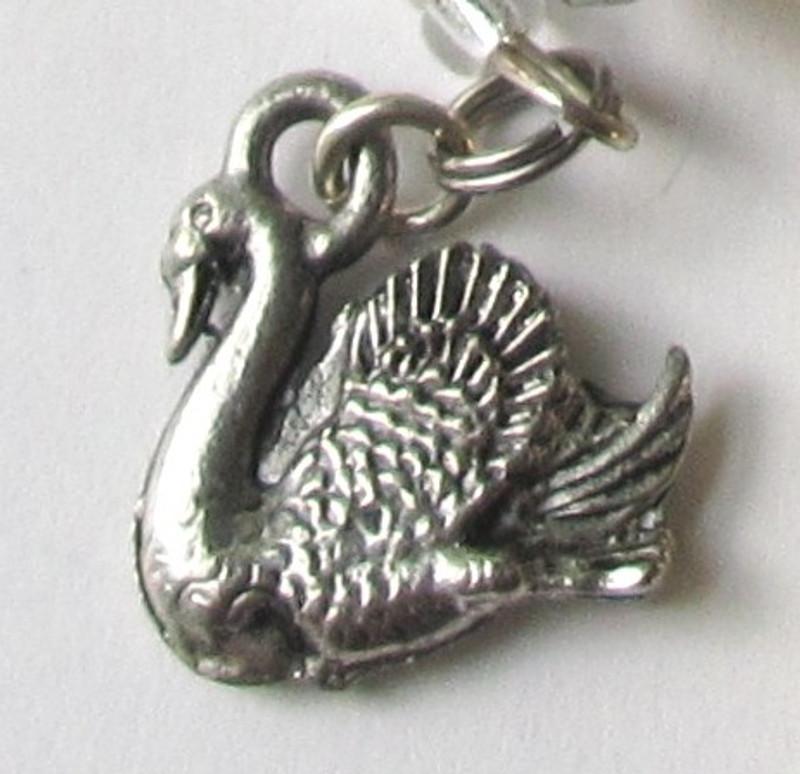 An enchanted swan , detail of the Lohengrin Opera Bracelet