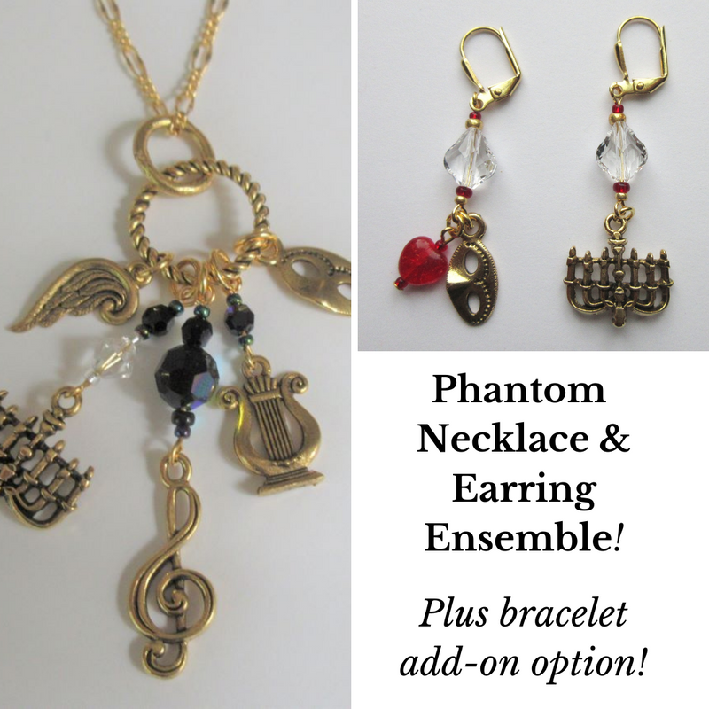 The Phantom of the Opera ensemble includes Phantom  necklace and earrings