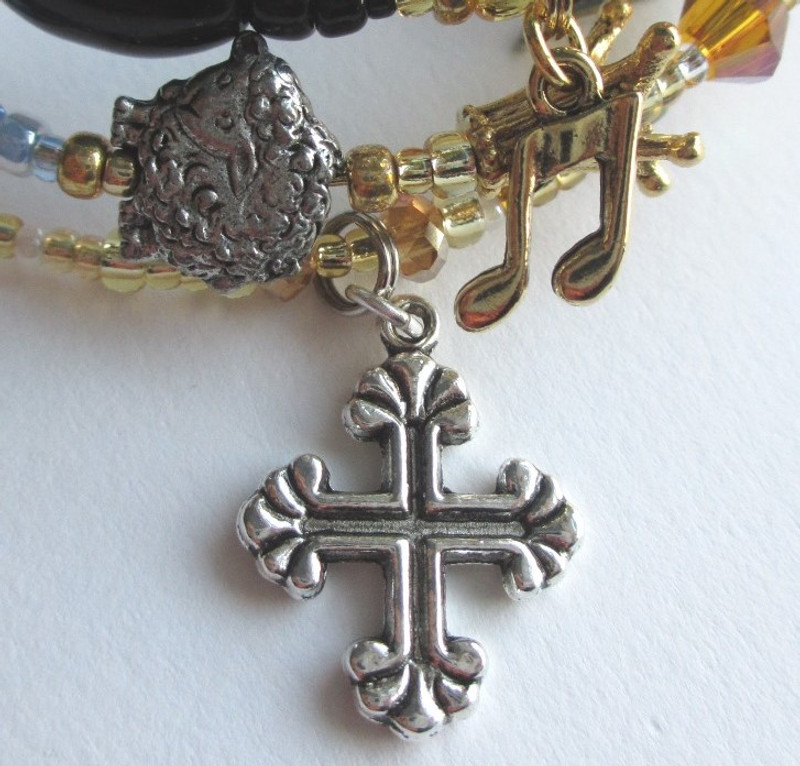 "The fancy cross symbolizes the final ""Amen""."
