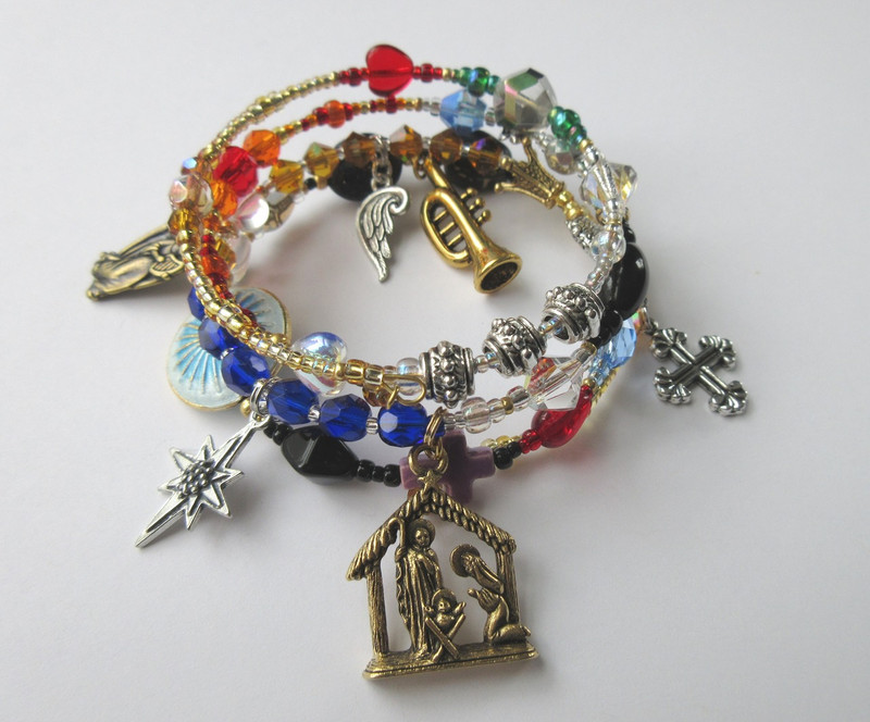 Handel's famous oratorio, Messiah, told via symbolic beads and charms.