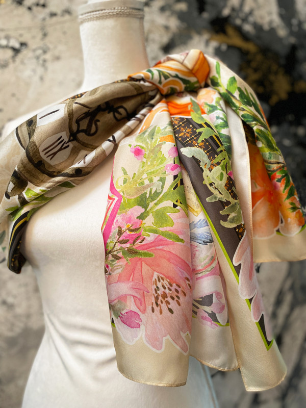 Marriage of Figaro Silk Scarf
