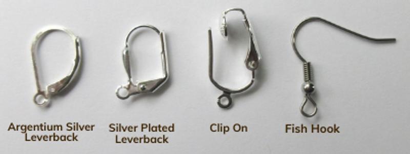 Amber Glass and Leaf Earrings