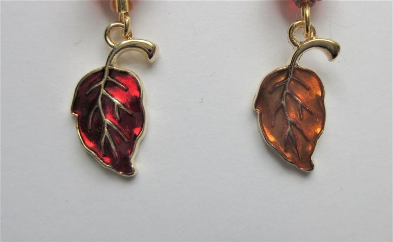 Pumpkins and Mixed Leaf Earrings