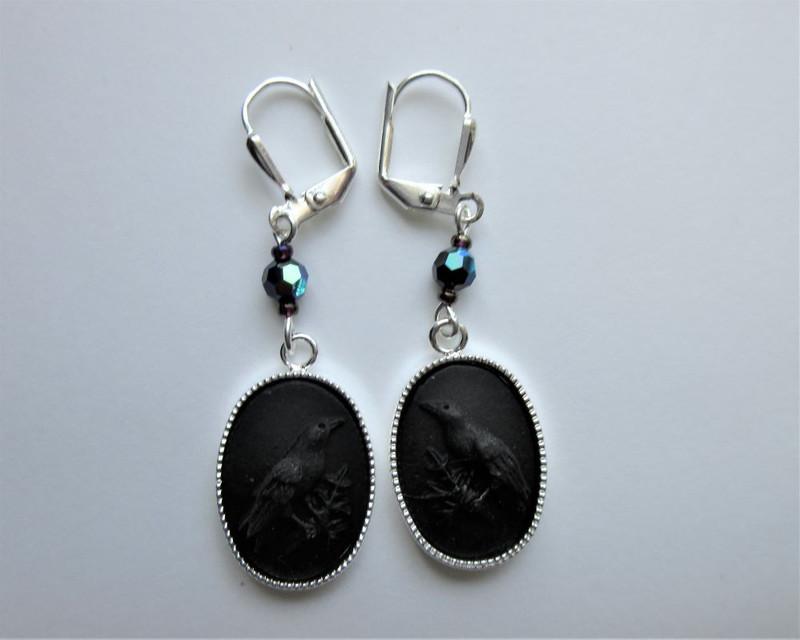 Wotan's Ravens Earrings