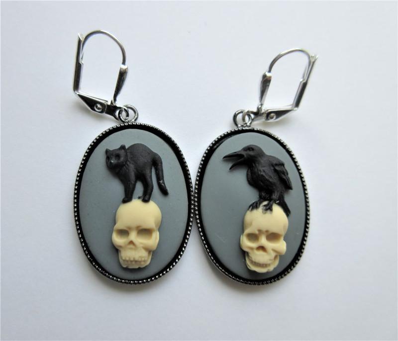 Edgar Allan Poe Earrings