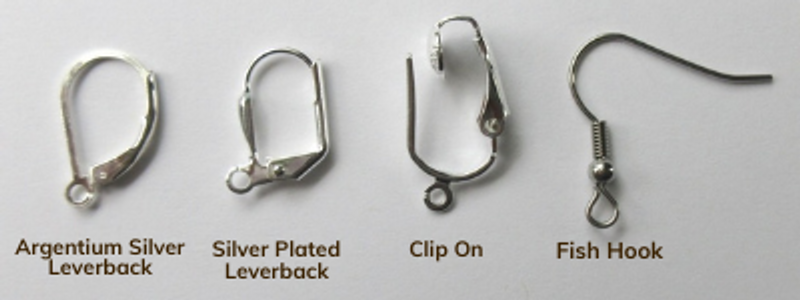 Choose a style of earring backs! Argentium Silver lever-backs are available for a fee of $10.00