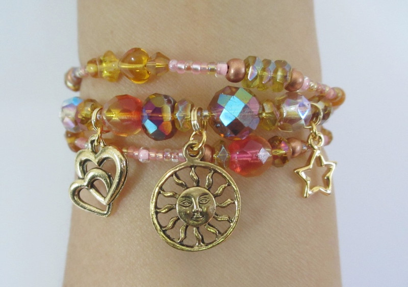 View of the  Brunnhilde's Awakening Bracelet highlighting its meaningful beads and charms.