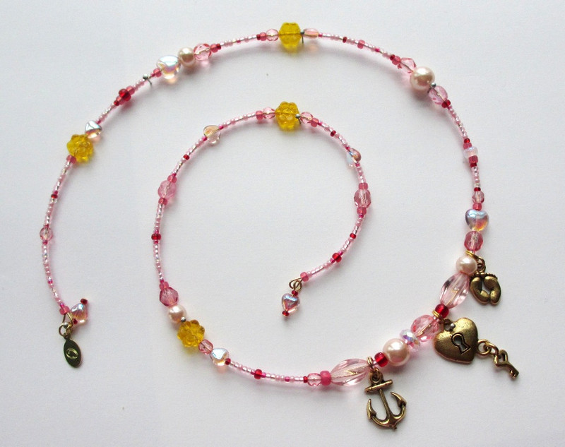 Spiral view of the Buttercup Bracelet Inspired by the operetta HMS Pinafore by Gilbert and Sullivan.