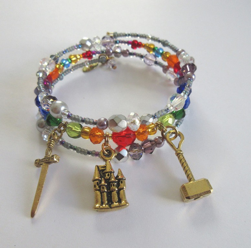 Bracelet evoking the finale of Das Rheingold, first opera in the epic Ring of the Nibelung.