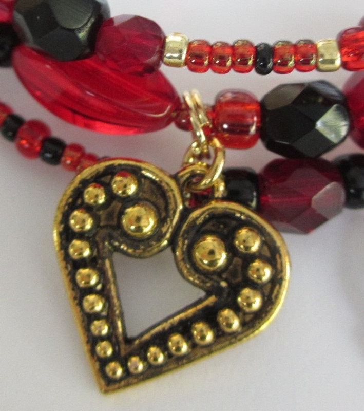 Toreador Song Bracelet detail: heart