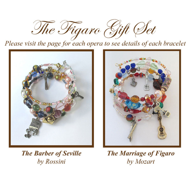 The Figaro gift set includes bracelets for Barber of Seville and Marriage of Figaro.