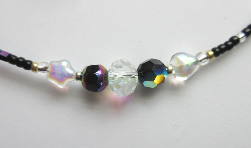 Bead detail from the Night Music Bracelet Inspired by Phantom of the Opera