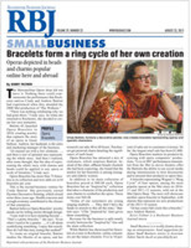 Opera Bracelets in the Rochester Business Journal