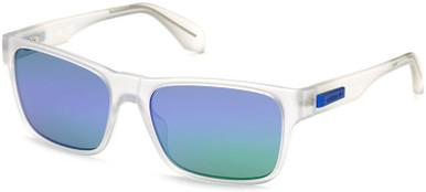 Matte Clear/Blue Green Mirror Lenses