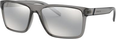 Transparent Grey/Light Grey Silver Mirror Lenses