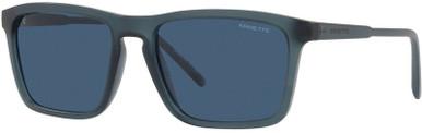 Matte Transparent Blue/Dark Blue Lenses