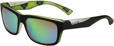 Jude - Matte Black Lime/Brown Emerald Lenses