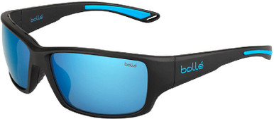 Kayman - Matte Black Blue/OS Blue Mirror Polarised Lenses