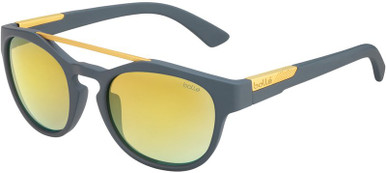 Boxton - Matte Cool Grey/Brown Gold Mirror Lenses