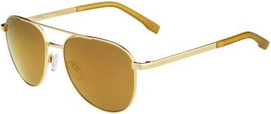Evel - Shiny Gold/HD Brown Gold Mirror Polarised Lenses