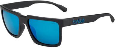 Frank - Matte Black/HD Offshore Blue Polarised Lenses