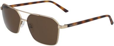 CK20300S - Matte Gold/Brown Lenses