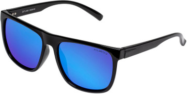 Zetland - Black/Ice Blue Mirror Polarised Lenses