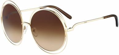 Carlina Round Petite - Rose Gold and Transparent Brown/Brown Lenses