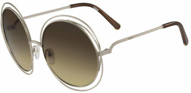 Carlina Round - Gold and Transparent Brown/Brown Gradient Lenses