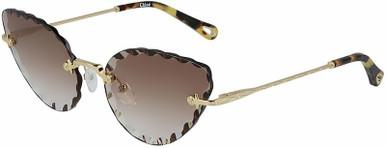 Rosie Cat Eye - Gold/Brown Gradient Lenses
