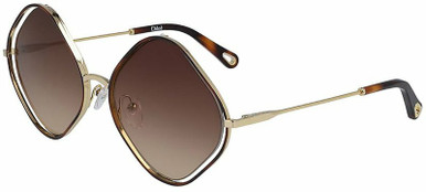 Poppy Diamond - Gold and Havana/Brown Gradient Lenses