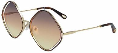 Poppy Diamond - Gold and Havana/Grey Orange Gradient Lenses