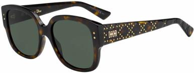 Lady Dior Studs - Dark Havana/Green Lenses