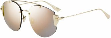 Stronger - Gold/Grey Rose Mirror Lenses