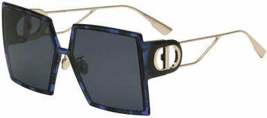 Montaigne - Blue Tortoise/Grey Lenses