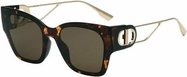 Montaigne 1 - Dark Havana/Brown Lenses