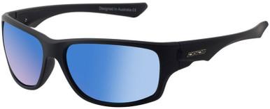 Ice - Matte Black/Blue Mirror Polarised Lenses