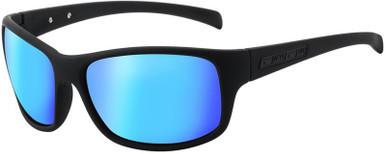 Satin Black/Ice Blue Mirror Polarised Lenses