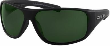 Wicked Safety Glasses - Satin Black/Green Polarised Lenses