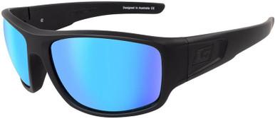 Muffler - Satin Black/Ice Blue Mirror Polarised Lenses