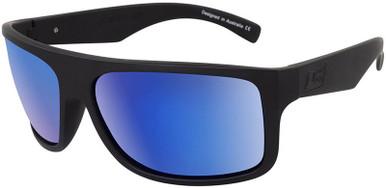 Anvil - Satin Black Grey/Blue Mirror Polarised Lenses