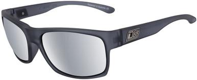 Satin Xtal Black Grey/Silver Mirror Polarised Lenses
