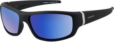Satin Black/Blue Fusion Mirror Polarised Lenses